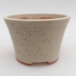 Keramik Bonsai Schüssel 11 x 11 x 7,5 cm, Farbe beige