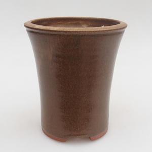 Keramik Bonsai Schüssel 10 x 10 x 12,5 cm, braune Farbe