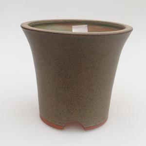 Keramik Bonsai Schüssel 13 x 13 x 12 cm, Farbe grau