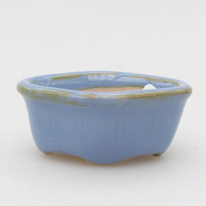 Mini-Bonsaischale 4,5 x 4 x 2 cm, Farbe blau