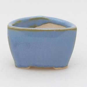 Mini-Bonsaischale 4,5 x 4,5 x 3 cm, Farbe blau