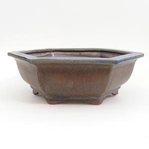 Keramik Bonsai Schüssel 29 x 25 x 9 cm, braun-blaue Farbe