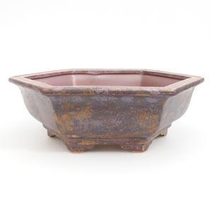 Keramik Bonsai Schüssel 24 x 21,5 x 8 cm, braune Farbe