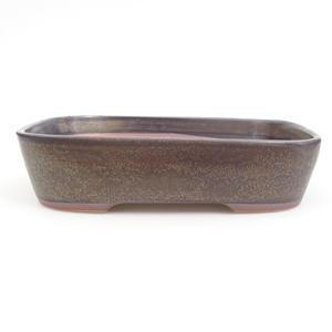 Keramik Bonsaischale 23,5 x 18 x 5,5 cm, braun-blaue Farbe