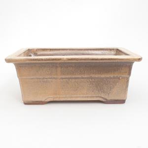 Keramik Bonsai Schüssel 19 x 14 x 8 cm, braun-beige Farbe