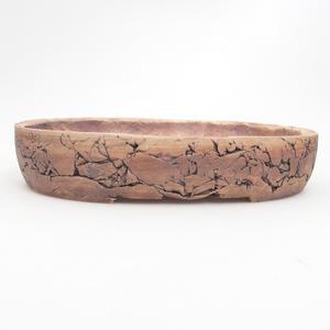 Keramik Bonsaischale 27 x 21 x 5 cm, braun-grüne Farbe