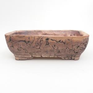 Keramik-Bonsaischale 22 x 17 x 7 cm, braun-grüne Farbe