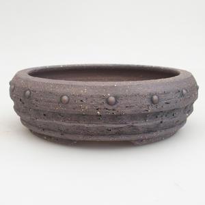 Keramik Bonsai Schüssel 19,5 x 19,5 x 6 cm, braune Farbe
