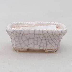 Keramik Bonsaischale 2. Wahl - 22 x 16 x 7,5 cm, braun-grüne Farbe