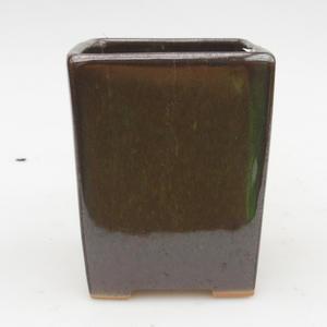 Bonsaischale aus Keramik 2. Wahl - 8 x 8 x 10 cm, Farbe grün