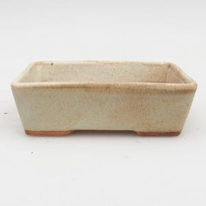 Keramik Bonsaischale 2. Wahl -12,5 x 9 x 4 cm, Farbe grau