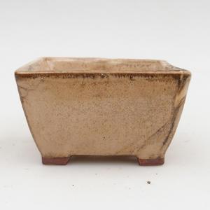 Bonsaischale aus Keramik 2. Wahl - 9 x 9 x 5,5 cm, Farbe beige