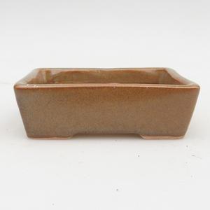 Keramik Bonsaischale 2. Wahl - 12 x 9 x 3,5 cm, Farbe grau