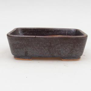 Keramik Bonsai Schüssel 2. Wahl - 12 x 10 x 4 cm, braune Farbe