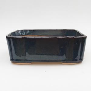 Bonsaischale aus Keramik 2. Wahl - 20 x 17 x 7 cm, Farbe braun-blau
