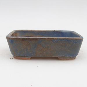 Bonsaischale aus Keramik 2. Wahl - 12 x 10 x 4 cm, Farbe braun-blau
