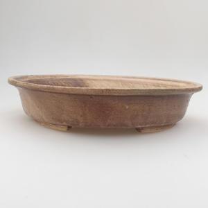 Keramik Bonsai Schüssel 24 x 21 x 5 cm, braun-beige Farbe