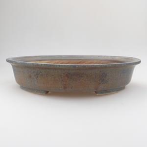 Keramik Bonsaischale 29 x 25 x 6 cm, Farbe blau