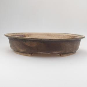 Keramik Bonsaischale 29 x 25 x 6 cm, braun-grüne Farbe