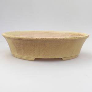 Keramik Bonsai Schüssel 21,5 x 18 x 5 cm, gelbe Farbe