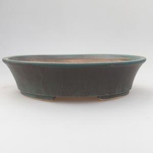 Keramik-Bonsaischale 21,5 x 18 x 5 cm, grünbraune Farbe