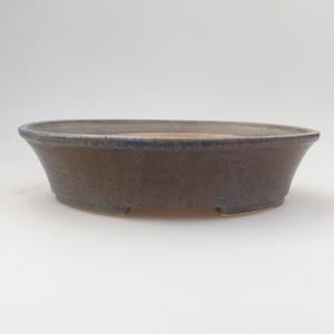 Keramik Bonsaischale 21,5 x 18 x 5 cm, blau-braune Farbe