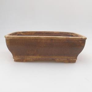 Keramik Bonsaischale 17,5 x 14,5 x 5,5 cm, Farbe braun