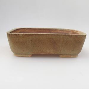 Keramik Bonsai Schüssel 18 x 15 x 5 cm, grün-braune Farbe