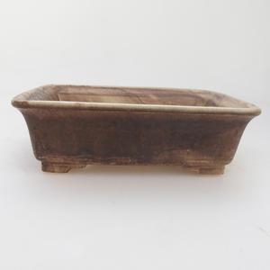 Keramik Bonsai Schüssel 17 x 14 x 5 cm, braune Farbe