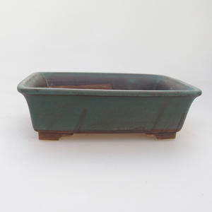 Keramik Bonsaischale 17 x 14 x 5 cm, Farbe grün