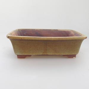 Keramik Bonsai Schüssel 17 x 14 x 5 cm, grün-braune Farbe