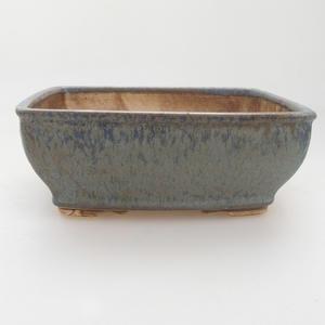 Keramik Bonsaischale 15 x 12 x 5 cm, Farbe blau
