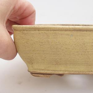 Keramik Bonsai Schüssel 15 x 12 x 5 cm, gelbe Farbe