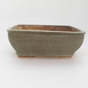 Keramik Bonsai Schüssel 15 x 12 x 5 cm, grün-braune Farbe