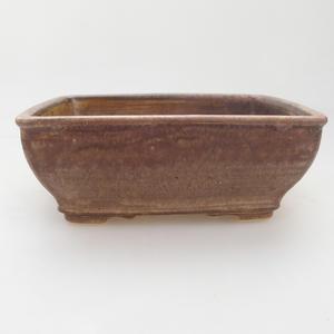 Bonsaischale aus Keramik 15 x 12 x 5 cm, Farbe beige-braun