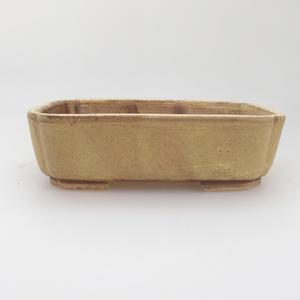 Keramik Bonsai Schüssel 17,5 x 14 x 5 cm, gelbe Farbe