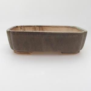 Keramik-Bonsaischale 17,5 x 14 x 5 cm, grünbraune Farbe