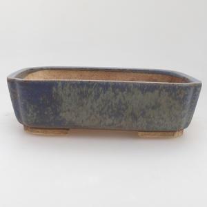Keramik Bonsaischale 17,5 x 14 x 5 cm, Farbe blau