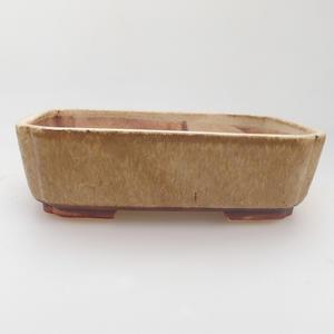 Bonsaischale aus Keramik 17,5 x 14 x 5 cm, Farbe beige