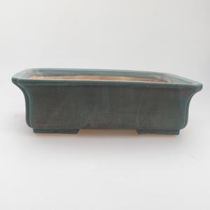 Keramik-Bonsaischale 20 x 17 x 6,5 cm, grünbraune Farbe