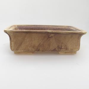 Keramik-Bonsaischale 20 x 17 x 6,5 cm, gelbbraune Farbe