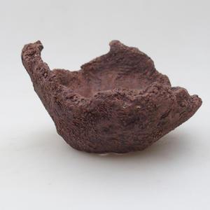 Keramikschale 13 x 11 x 9 cm, graue Farbe