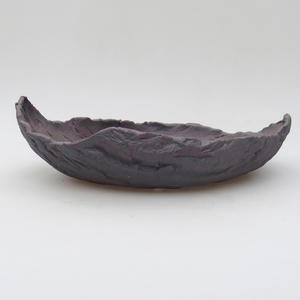 Keramikschale 23 x 15 x 7 cm, Metallfarbe