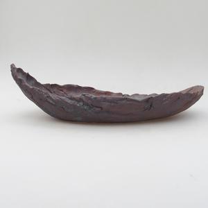 Keramikschale 28 x 14 x 8,5 cm, Metallfarbe