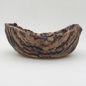 Keramikschale 20,5 x 15,5 x 8,5 cm, graubraune Farbe