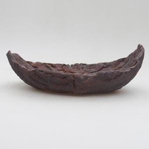 Keramikschale 19 x 11,5 x 7 cm, Metallfarbe