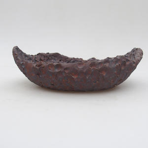 Keramikschale 17 x 11,5 x 5,5 cm, Metallfarbe