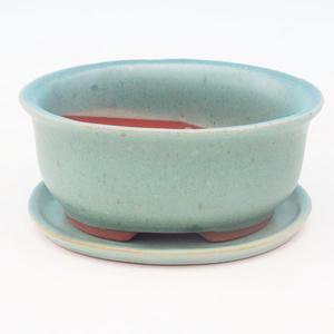 Bonsai-Schale und Tablett mit Wasser  H 30, grün