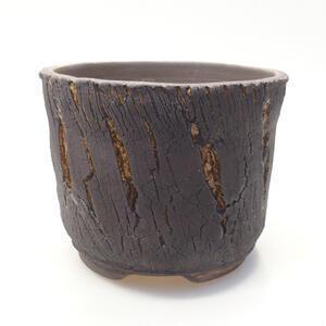 Keramická bonsai miska 13,5 x 13,5 x 11 cm, barva praskaná