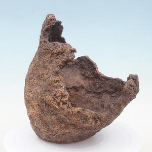 Keramická Skořápka 23 x 21 x 25 cm , barva  hnědá